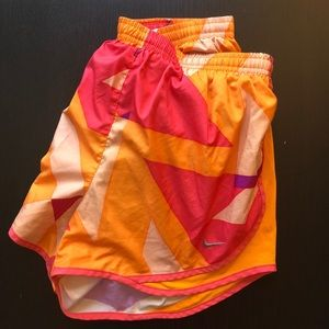 Nike orange large running shorts